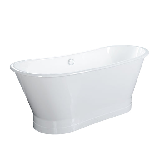"Wakely 68"" Cast Iron Bateau Tub on Base"