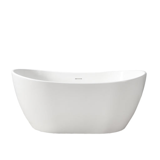"Edison 56"" Resin Freestanding Tub"