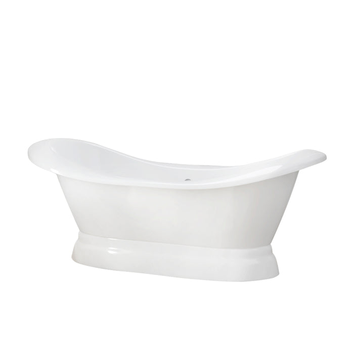 "Marshall 72"" Cast Iron Double Slipper Tub on Base"
