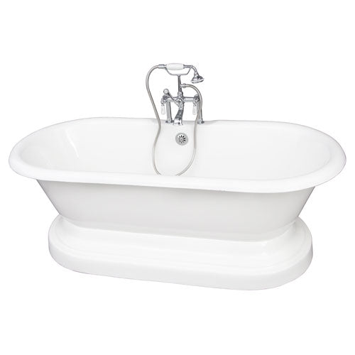 Duet 67″ Cast Iron Double Roll Top Tub Kit – Polished Chrome Accessories
