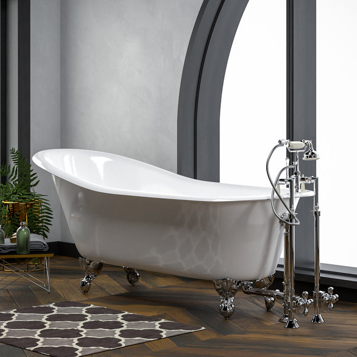 "Icarus 67"" Cast Iron Slipper Tub"
