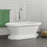 "Carlotta 63"" Acrylic Double Roll Top Tub on Base"