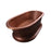 Somerset 77″ Copper Double Roll Top Tub