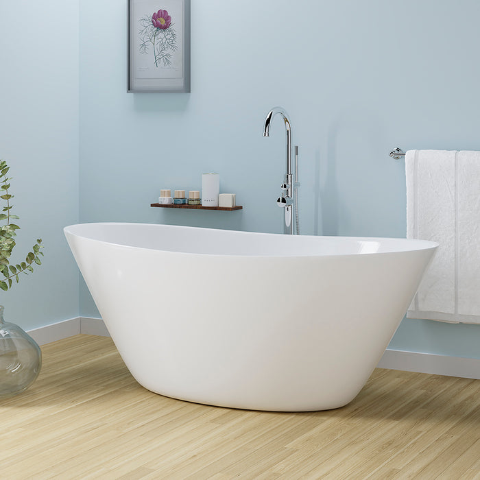 "Nickelby 68"" Acrylic Double Slipper Tub"