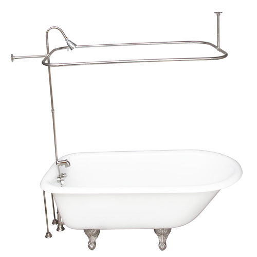Brocton 68″ Cast Iron Roll Top Tub Kit – Polished Chrome Accessories