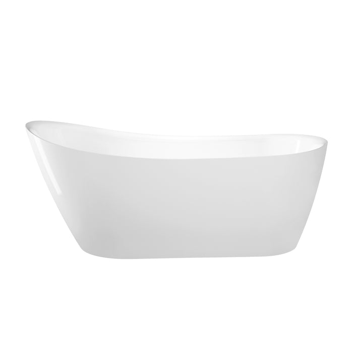 "Lovina 66"" Acrylic Slipper Tub with Integral Drain and Overflow"