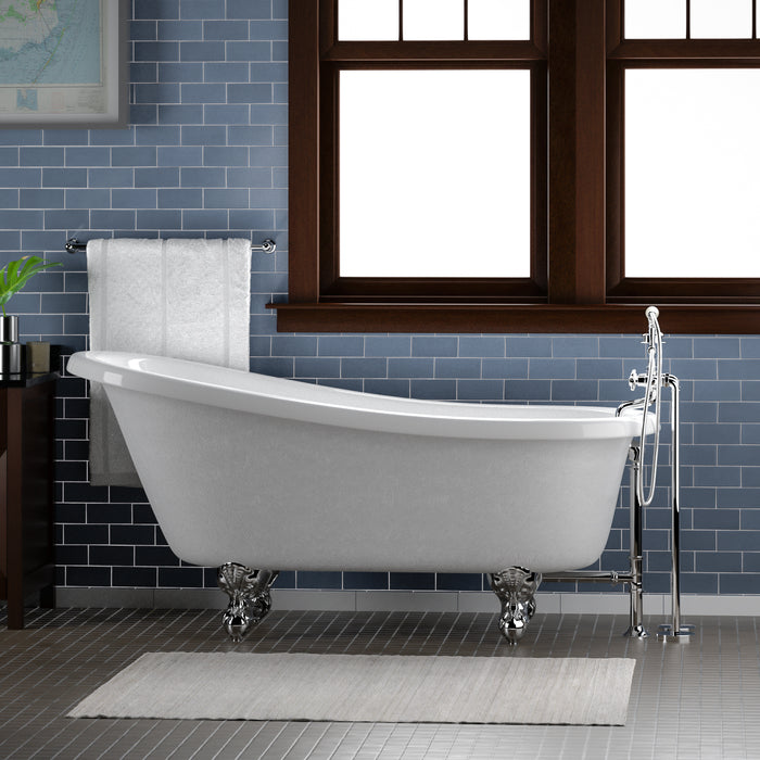 "Imogene 67"" Acrylic Slipper Tub"