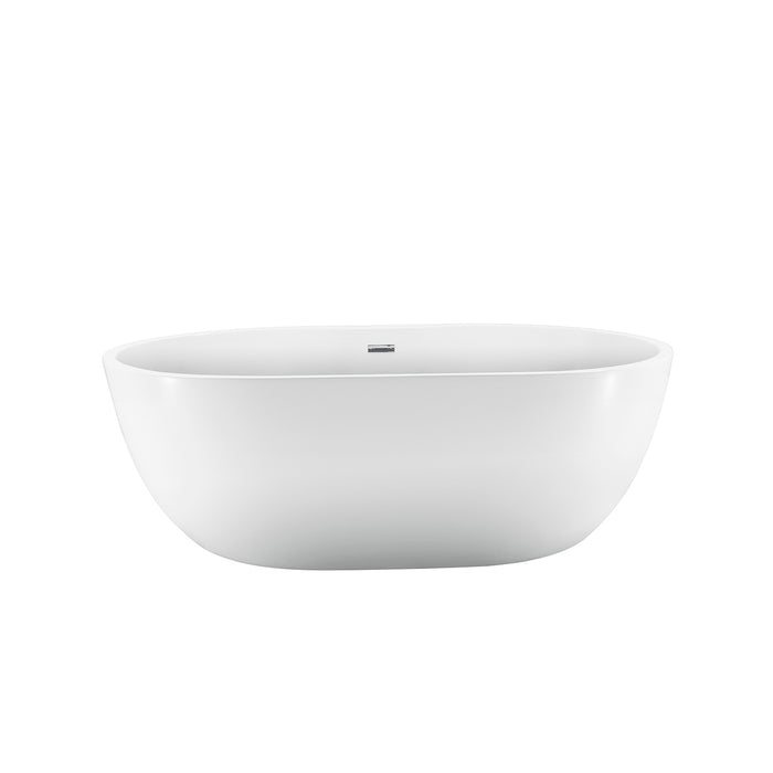 "Piper 71"" Extra Wide Acrylic Tub with Integral Drain"