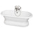 Duet 67″ Cast Iron Double Roll Top Tub Kit – Brushed Nickel Accessories