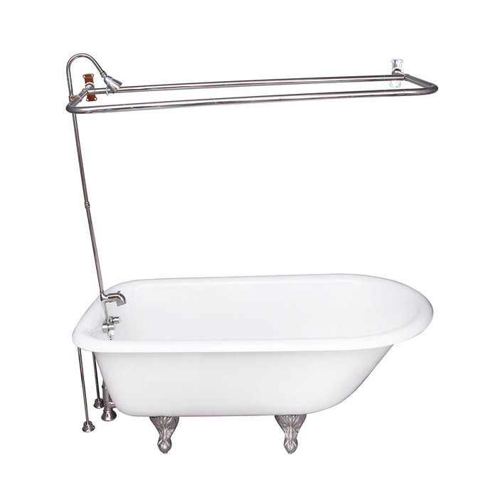 Bartlett 60″ Cast Iron Roll Top Tub Kit – Polished Chrome Accessories