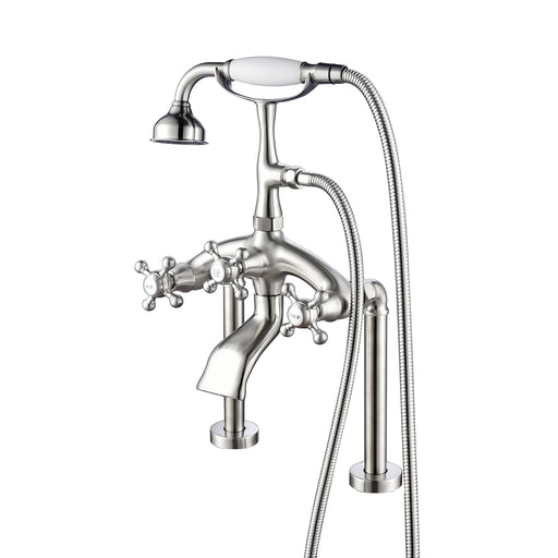 Tub Rim-Mounted Filler with Diverter