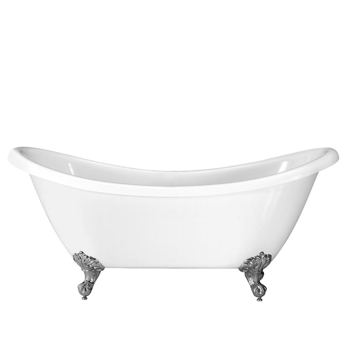 "Merrick 69"" Acrylic Double Slipper Tub"