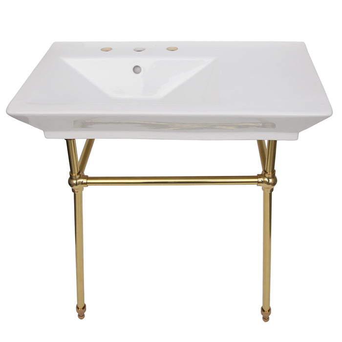 "Opulence Small Console with Brass Stand for ""Him"""