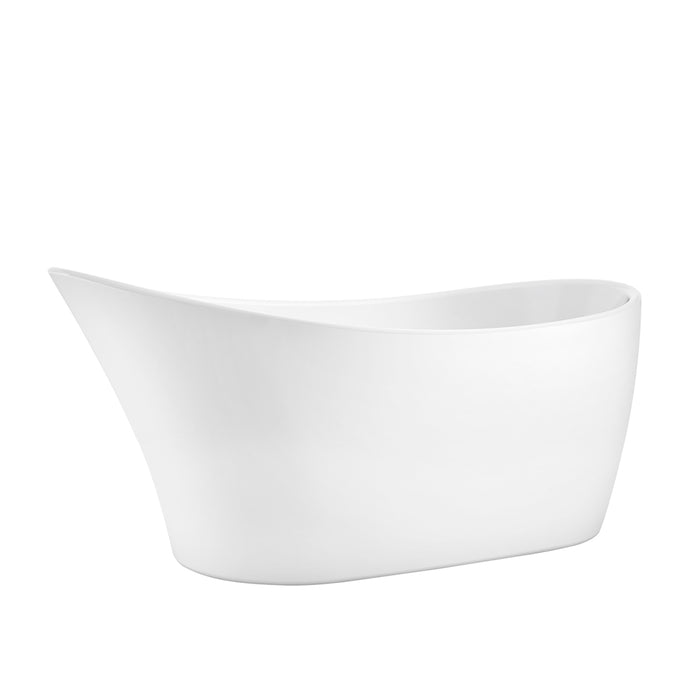 "Lydia 65"" Acrylic Slipper Tub"