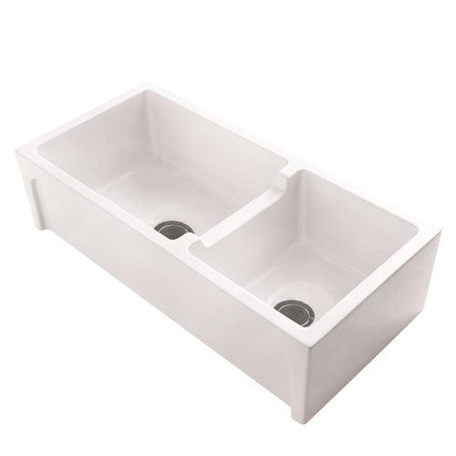 Millwood 36″ Double Bowl Fire Clay Farmer Sink