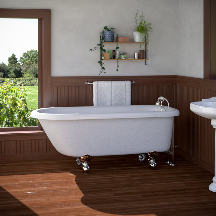 "Atlin 67"" Acrylic Roll Top Tub"