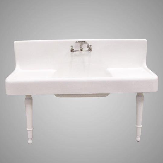 Alma 60 Cast Iron Wall Hung Kitchen Sink With Drainboard Barclay Products Limited