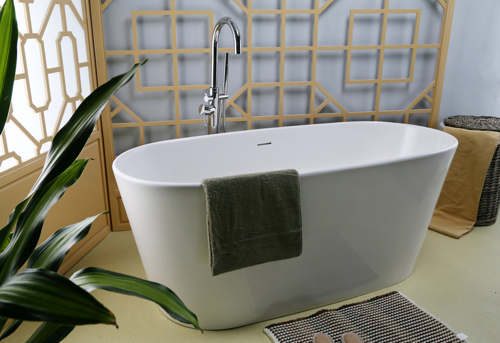"Paden 62"" Resin Freestanding Tub"