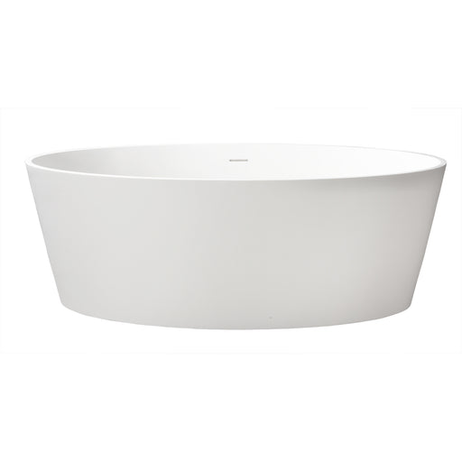 "Magnus 63"" Resin Freestanding Oval Tub"