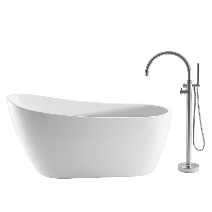 "Lucinda 66"" Acrylic Slipper Tub"