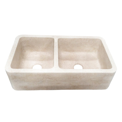 Dryden Double Bowl Marble Farmer Sink