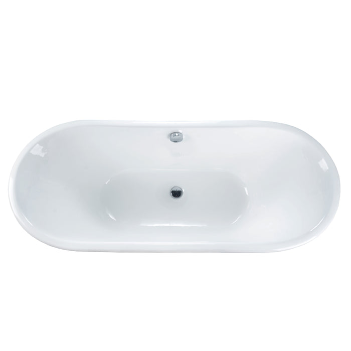 "Anthony 67"" Cast Iron Bateau Tub"