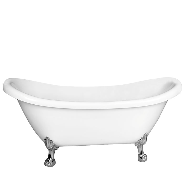 "Monroe 69"" Acrylic Double Slipper Tub"