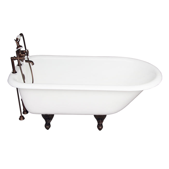 Beecher 60″ Cast Iron Roll Top Tub Kit – Oil Rubbed Bronze Accessories