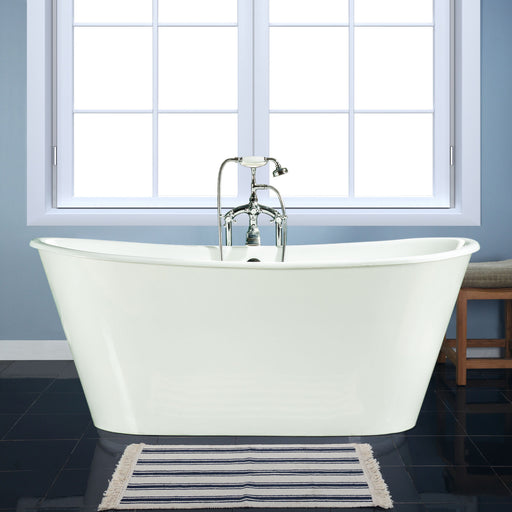 "Beatrice 67"" Cast Iron Bateau Tub"