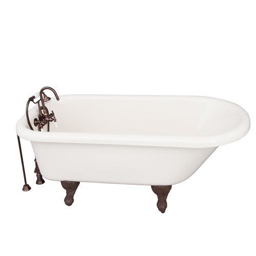 Anthea Acrylic Roll Top Tub Kit in Bisque – Oil Rubbed Bronze Accessories