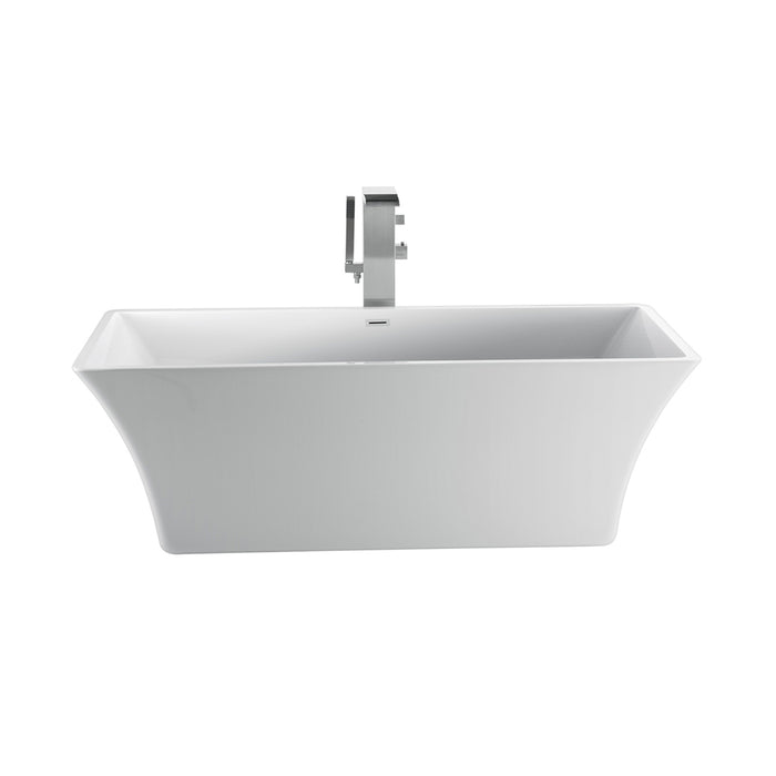 "Tara 60"" Acrylic Tub with Integral Drain and Overflow"