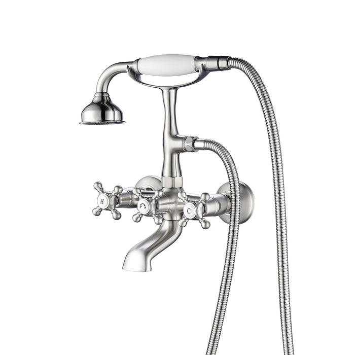Tub Wall-Mount Filler with Diverter