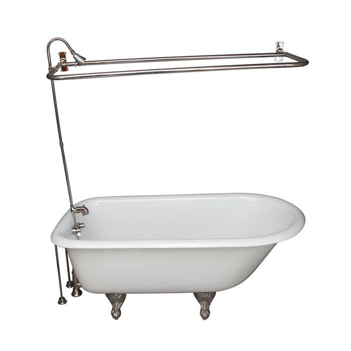 Brocton 68″ Cast Iron Roll Top Tub Kit – Polished Nickel Accessories