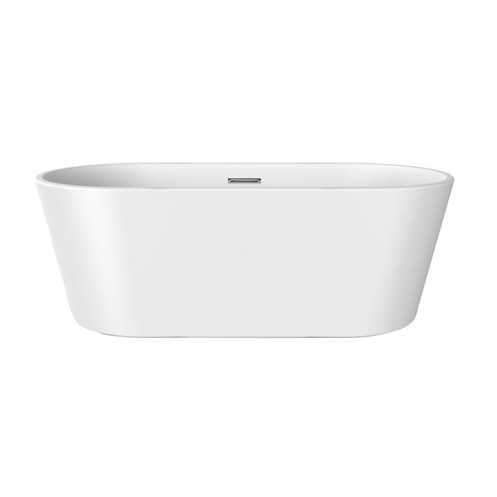 "Patrick 67"" Acrylic Tub with Integrated Drain and Overflow"