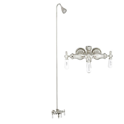 Tub/Shower Converto Unit – Diverter Faucet, Old Style Spigot, Adj. Showerhead for Cast Iron Tub