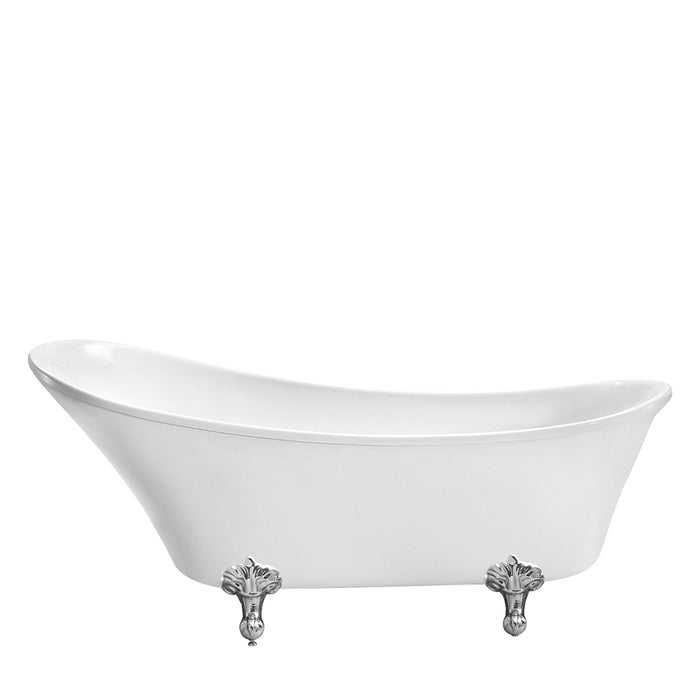 "Lani 69"" Acrylic Slipper Tub"