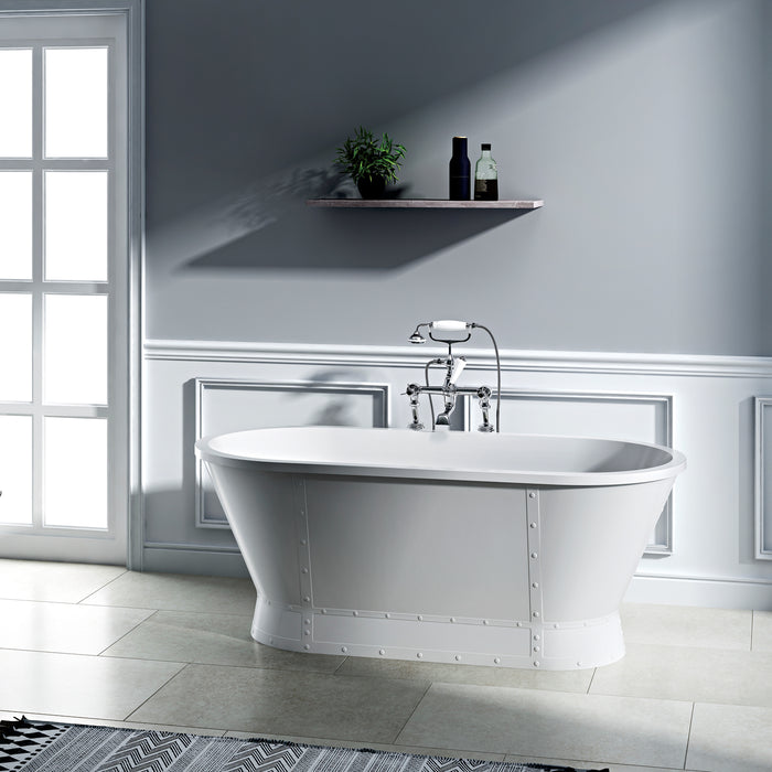 "Coventry 66"" Acrylic Tub with Integrated Drain and Overflow"