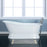 "Leonardo 61"" Cast Iron Slipper Tub on Base"