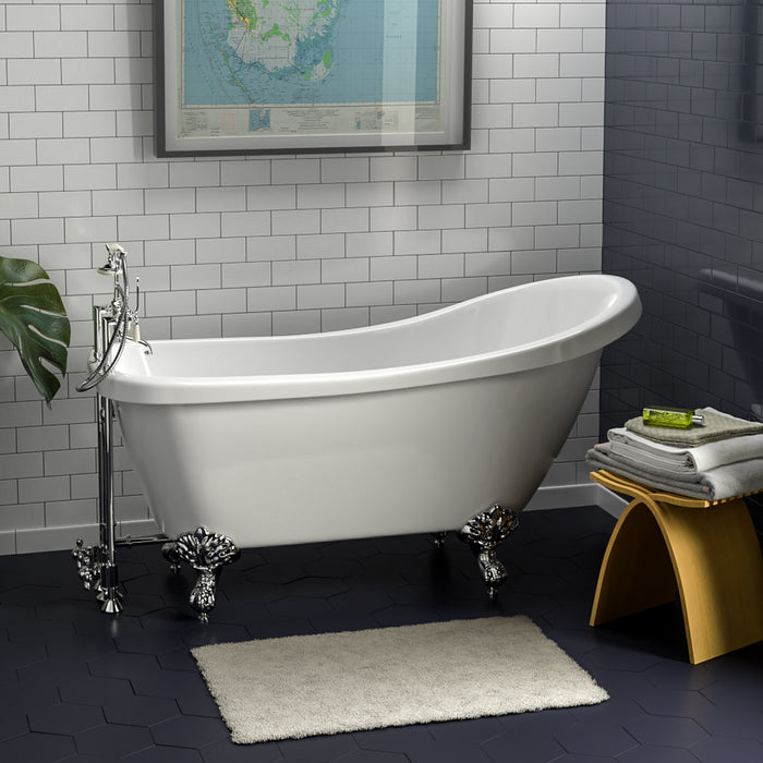 "Fortuna 61"" Acrylic Slipper Tub"