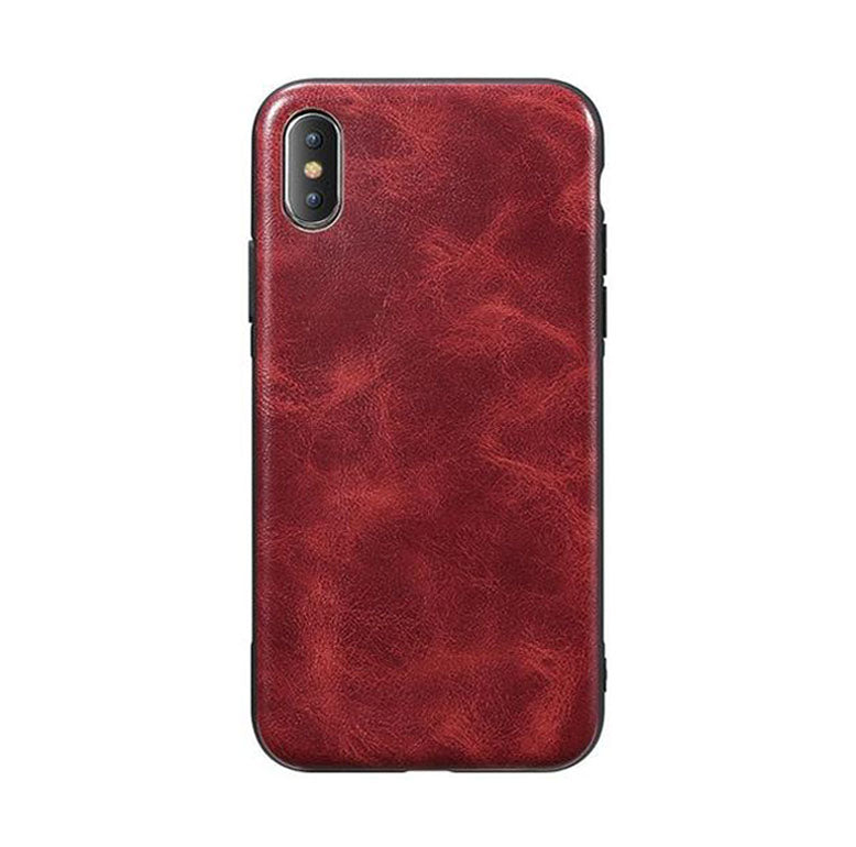 Vintage - Coque iPhone en Cuir PU - Leather Phone Case For iPhone 6 7 8 Plus Luxury Business Vintage Leather Cover Case For iPhone X 6 6S 7 8 Plus