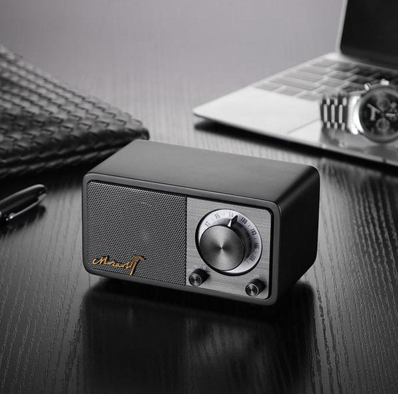 MOZART - Mini-Enceinte Rétro Nomade Bluetooth & Radio FM - Mozart portable bluetooth fm radio speaker wireless speaker