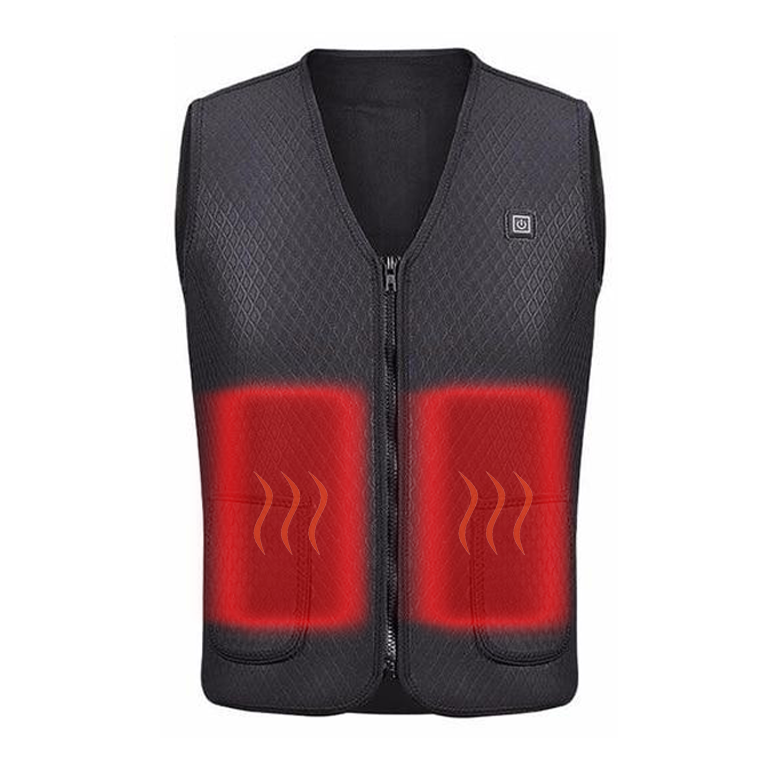 Veste chauffante légère - Usb Heater Hunting Vest Heated Jacket Heating Winter Clothes Men Thermal Outdoor Sleeveless Vest Hiking Climbing Fishing