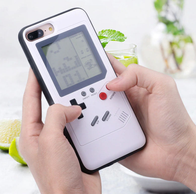 RetroGaming - Coque iPhone avec 26 jeux (Gameboy) - Game Machine Phone Case For iPhone X 6 6S Plus Cover Black Retro Game Console Case For iPhone 7 8 Plus X - Noir Blanche Blanc - Black, White