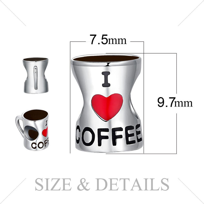 I ❤️ COFFEE - Charm Argent 925