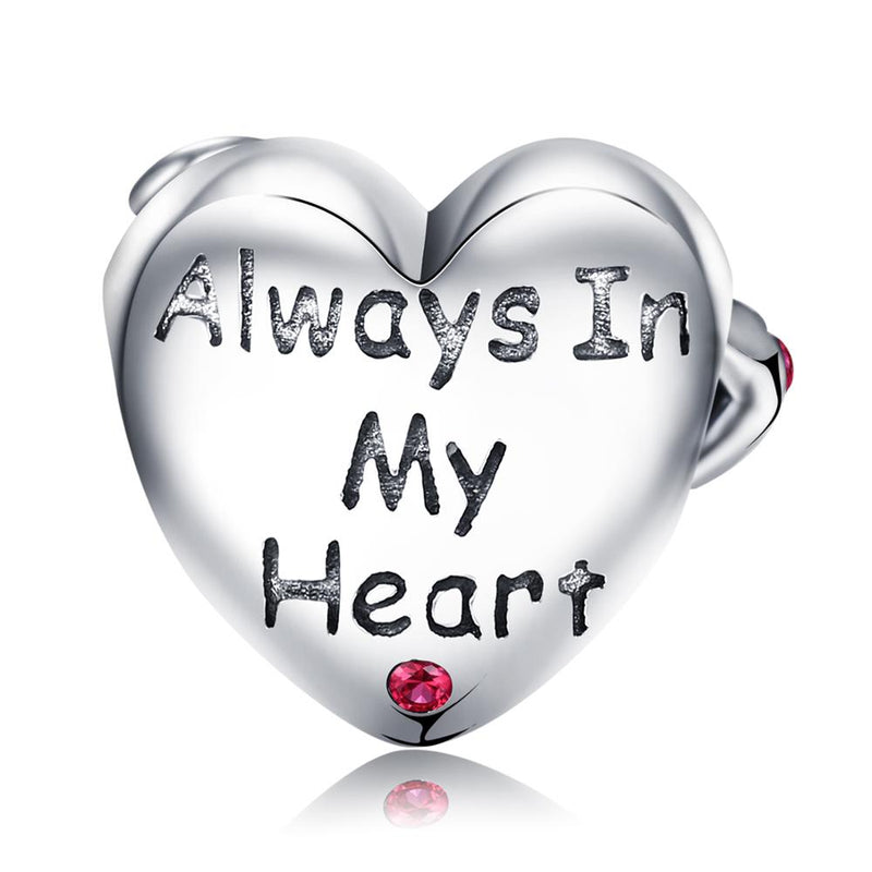 ALWAYS IN MY HEART - Charm Argent 925