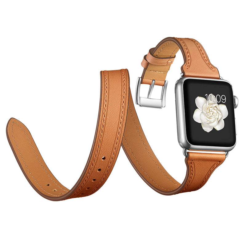 Bracelet En Cuir Double Tour - Apple Watch Series 1 à 5