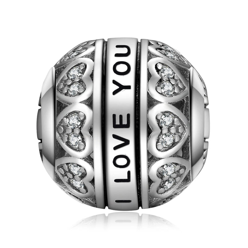 I Love You 925 Sterling Silver Beads Charms Silver 925 Original For Bracelet Silver 925 original Bead Jewelry Making