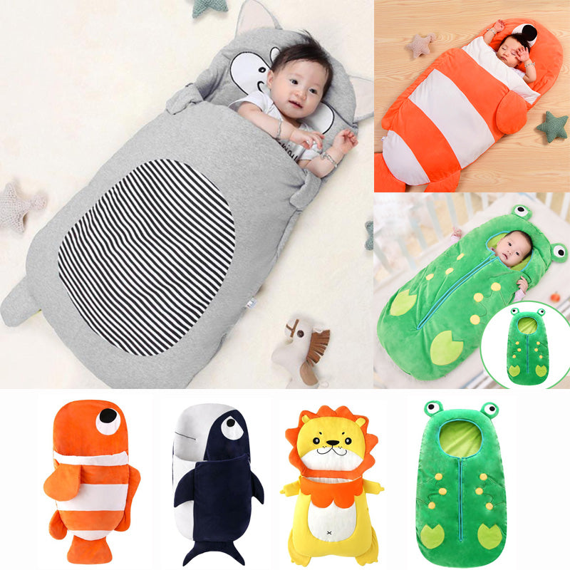 Sac de couchage - 0 à 3 ans - 5 colors Baby Sleeping Bag Soft Cotton Thick Blanket Winter Sweet Cartoon Animals Babies Newborn Infant Kids Sleeping Bags Gifts