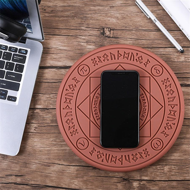 Chargeur Rapide Qi sans fil Universel 10W - Séquence d'allumage - Universal Magic Circle Wireless Charger Qi Wireless Fast Quick Charging Pad for iPhone X XS 8 Samsung Xiaomi Redmi Huawei Honor