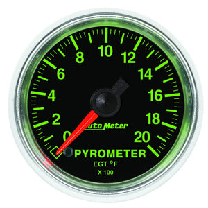 "Auto Meter 3845 GS Series Pyrometer Gauge 2-1/16"", Electrical (Full Sweep)"